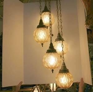 Vintage globe swag lamp light ceiling way adjustable