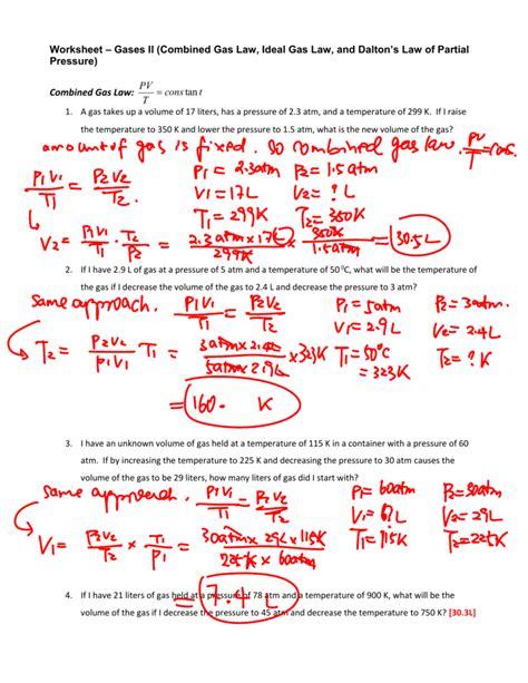 worksheet combined gas worksheet answers worksheet