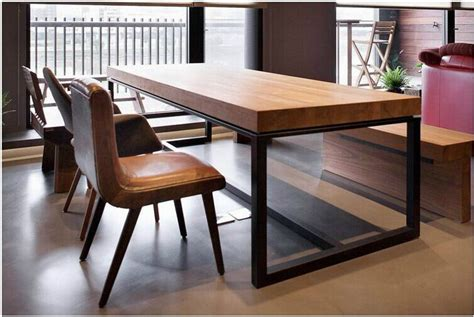 wood and iron dining table european solid wood dining table rectangular wood dining 1926