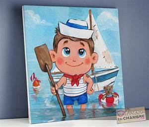 Tableau Chambre Enfant : tableau pourchambre enfant petit marin vente tableau dco matelot pour enfants ~ Teatrodelosmanantiales.com Idées de Décoration