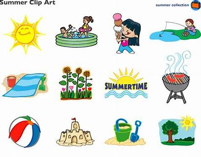 Summer Clipart Clip Season Activities Printable Learning