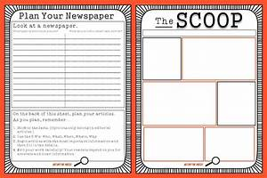 Classroom printable family newspaper student newspaper for Free printable newspaper template for students