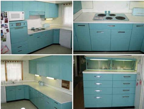 Retro Metal Kitchen Cabinets by Aqua Ge Metal Kitchen Cabinets For Sale On The Forum