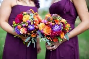 october wedding colors fall wedding ideas and invitations purple and orange wedding