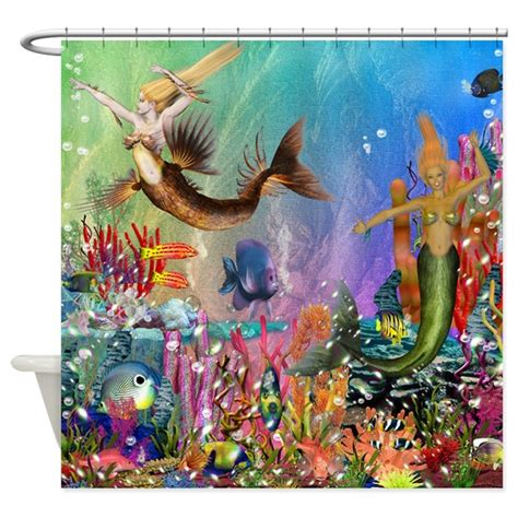 41223 mermaid shower curtain best seller merrow mermaid shower curtain by the jersey