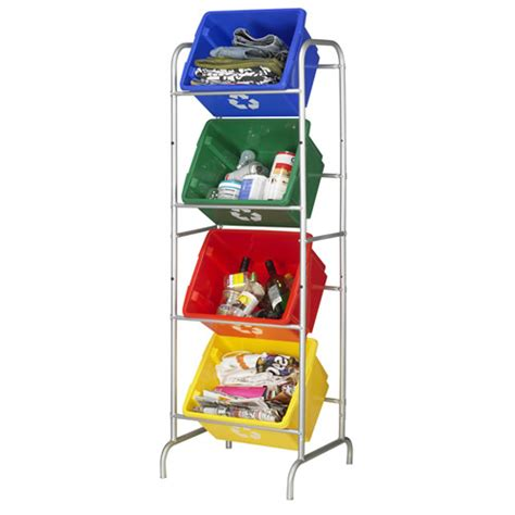 recycling storage rack store plastics recycling ideas