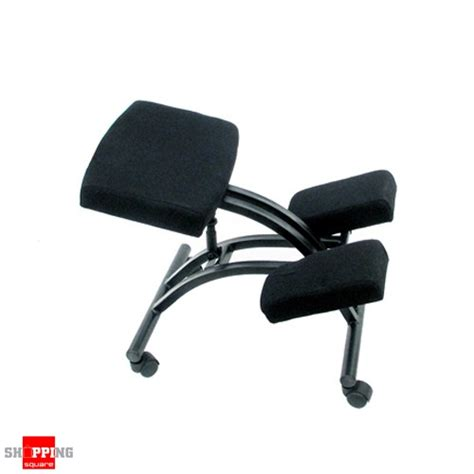 ergonomic adjustable office kneeling chair black shopping shopping square au