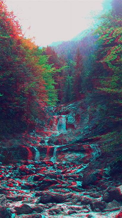 Iphone Rgb Nature Wallpapers Anaglyph Mountain Phone