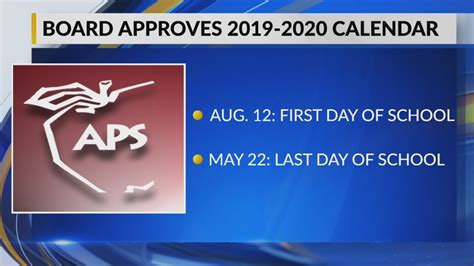 aps approves calendar school year