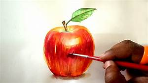 Apple Watercolor Painting Tutorial For Beginners Step By