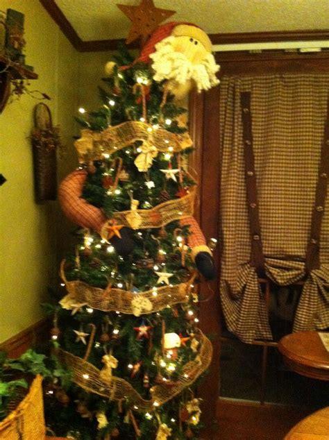primitive country christmas tree curtain ideas pinterest