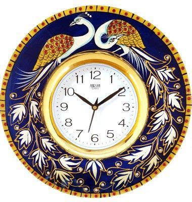 No matter how embellish your bare walls, a beautiful wall clock from sears is a. DivineCrafts Analog 32 cm Dia Wall Clock(Multicolor, With ...
