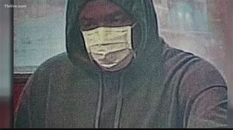 bank robber wearing surgical masks  hit