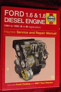 Ford Diesel 1 6  U0026 1 8 Engine Book Manual For Sale At