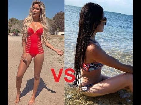 natti natasha swimsuit karol g vs natti natasha youtube
