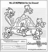 Attic Coloring Pages Angels Scream Ice Cream Adding Help Some sketch template
