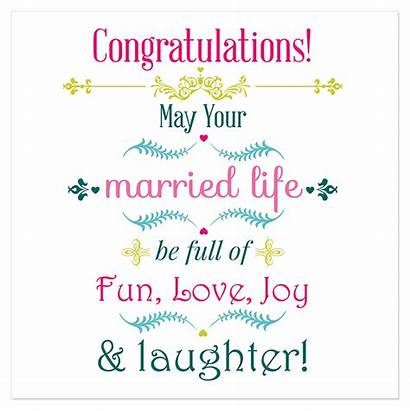Congratulations Married Fun Engagement Card Quotes Wishes