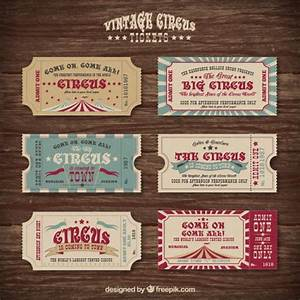 Vintage circus tickets collection Vector | Premium Download