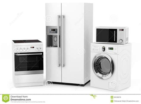Group Of Household Appliances Royalty Free Stock Photo