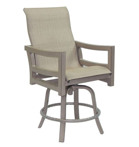 roma high back sling swivel bar stool castelle luxury