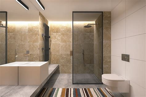 Bathroom Wall Construction Materials by 5 Small Studio Apartments With Beautiful Design