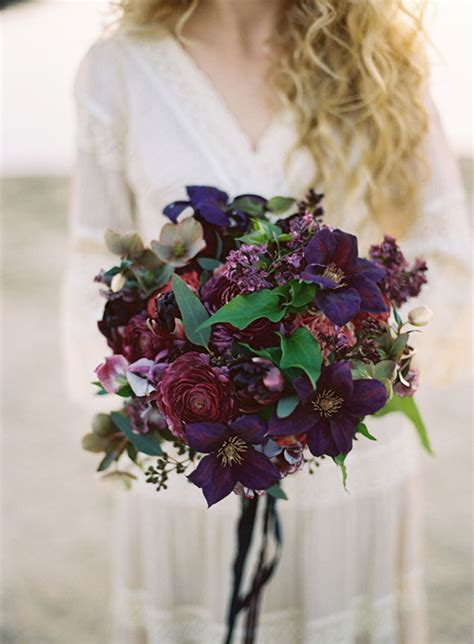 wedding flower inspiration dark wedding bouquets