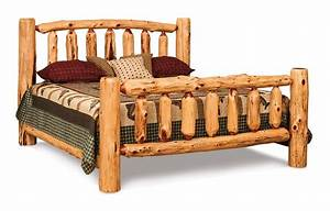 Rustic Red Cedar Log Cabin King Bed from DutchCrafters