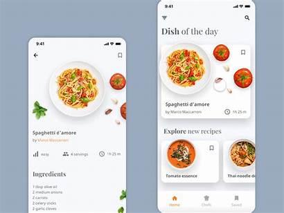 Recipe App Dribbble Prototype Ui Recipes Rzepka