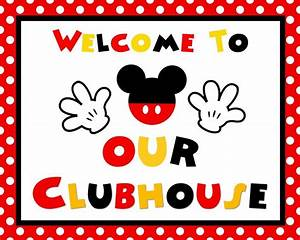 """Disney Mickey Mouse 8 25x10 75"""" Welcome to Our Clubhouse"""
