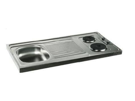 hauteur prise cuisine evier cuisinette à poser avec plaque de cuisson intégrée pe1200 lemarchand