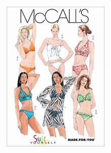 M5400 Misses' Bikini and Cover-Up Sewing Pattern