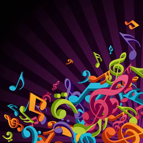 musical symbol creative background color color