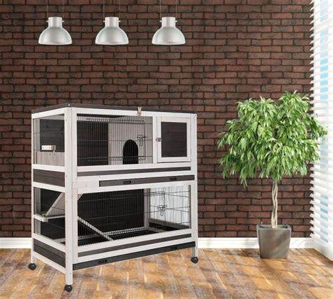 cage a lapin d interieur cage clapier lapin d interieur hutchland animaloo