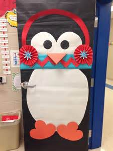 winter classroom door who doesn t love a penguin with a