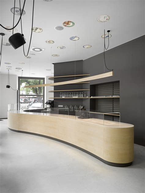 minimalist cafe  prague residence design