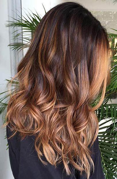 caramel ombre hair ideas  pinterest hair