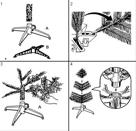 hinged construction christmas tree building systems there are several ways to build up the royal trees hook on hinged