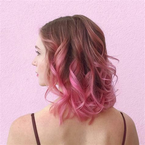 Pink Ombre On Dark Blonde Beauty Pink Ombre Hair Hair