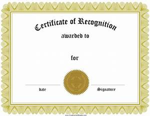 Free certificate of recognition template customize online for Free template for certificate of recognition