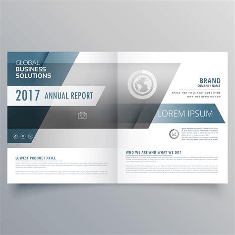 modern elegant business brochure template  bifold style