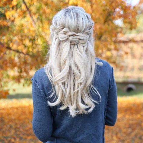 braided hairstyles     medium length hair blonde hair color medium hair