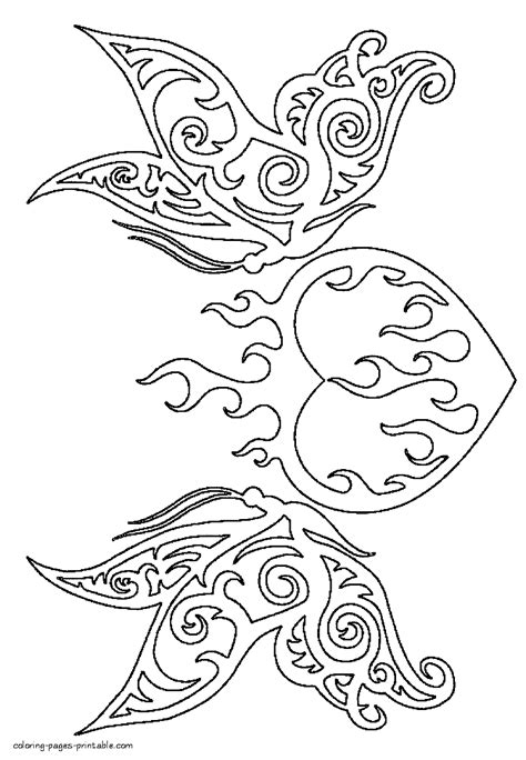 Burning heart coloring page #coloringsheets Burning heart