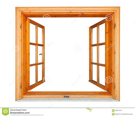 Wooden Window Ledge by Wooden Window Open With Marble Ledge Stock Photo Image