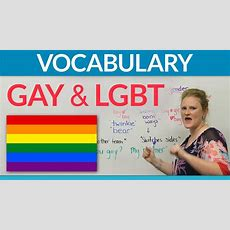 Lgbt  Gay Vocabulary In English Youtube