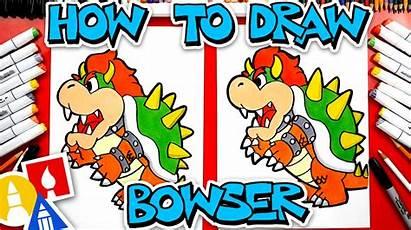 Bowser Draw Mario Hub Artforkidshub Ausmalbilder Learn