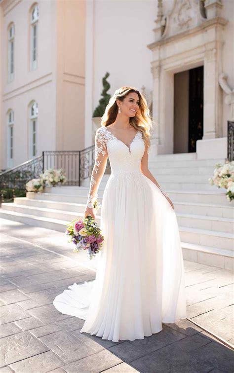 Casual Long Sleeved Wedding Dress Stella York Wedding