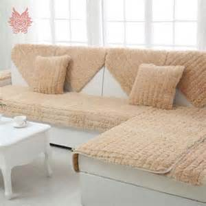 long fur sofa cover plush slipcovers winter canape for