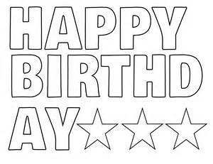 Happy Birthday Print Out Letters