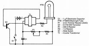 Battery Operated Black Light - Led And Light Circuit - Circuit Diagram