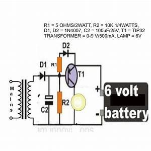 Emergency Light Circuit Using A Flashlight Bulb